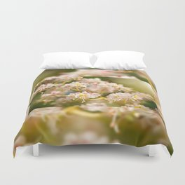 Aesculus chestnut tree blossoms Duvet Cover