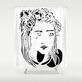 Paper Cut - Woman No. 1 --1 Shower Curtain