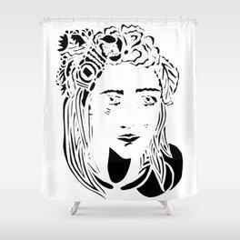 Paper Cut - Woman No. 1 --1 Shower Curtain