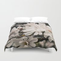 antique Duvet Covers featuring Antique Magnolias by A Wandering Soul