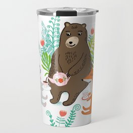 woodland tea party Travel Mug