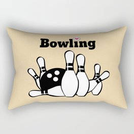 Love Bowling Illustration Rectangular Pillow