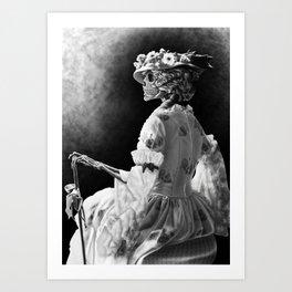 Lady Skeleton Art Print