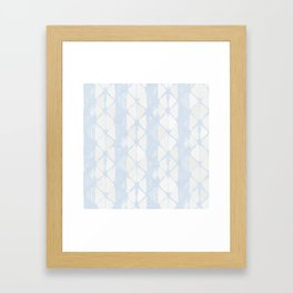 Simply Braided Chevron Sky Blue on Lunar Gray Framed Art Print