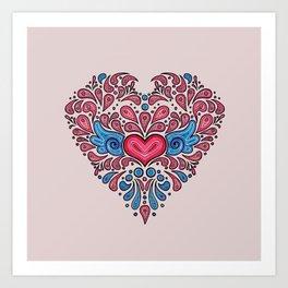 Hearts unfolding Art Print