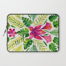 Tropical Symmetry – Pink & Green Laptop Sleeve