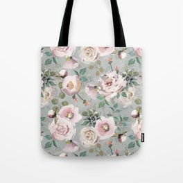 Hand Drawn Pastel Guache Claude Monet Botanical Flower Garden Tote Bag