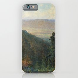 Hudson River Valley From The Catskill Mountain House 1872 By Thomas Hill | Reproduction iPhone Case