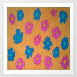 Summery Floral Print Art Print