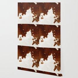 brown cowhide watercolor Wallpaper