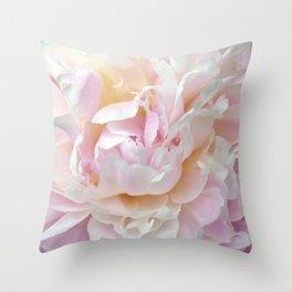 Pink Petal Flower Power Throw Pillow