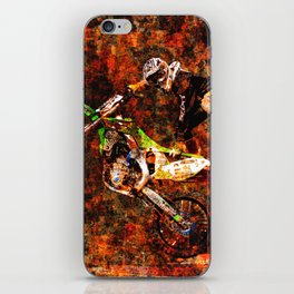 """On Fire"" Freestyle Motocross Rider iPhone Skin"