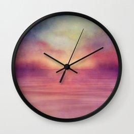 Minimal seascape 04 Wall Clock