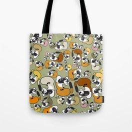 Black Footed Ferret pattern Tote Bag