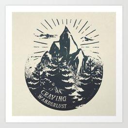Craving wanderlust III Art Print