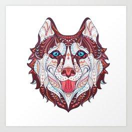 Husky Design Art Print