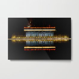 Temple reflection Metal Print