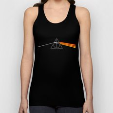 the darkside of the deathly hallows Unisex Tank Top