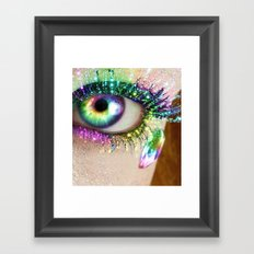Rainbow Eye Framed Art Print