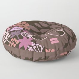 Afro Diva : Sophisticated Lady Pink Taupe Lavender Floor Pillow
