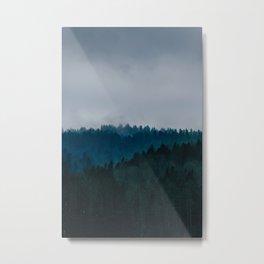 Blue Fog Metal Print