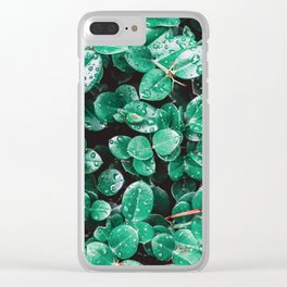 Leafy Greens Close Up Clear iPhone Case