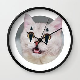 Black and White Cat - Cute Kitty - Christmas Gift Wall Clock