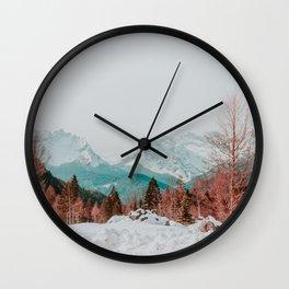 Dolomites, Winter 2017 Wall Clock