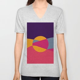 Abstract Desert Art Unisex V-Neck