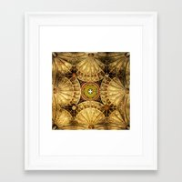 kaleidoscope Framed Art Prints featuring Kaleidoscope by Irina Chuckowree