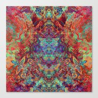supreme Canvas Prints featuring Supreme by GypsYonic
