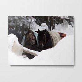 Winter Horses Metal Print
