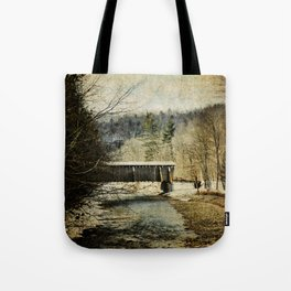 Halls Mills Covered Bridge Tote Bag