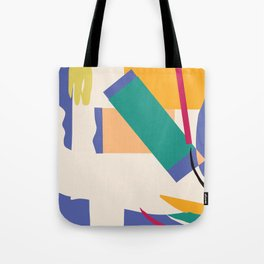 Matisse Inspired Colorful Collage Tote Bag