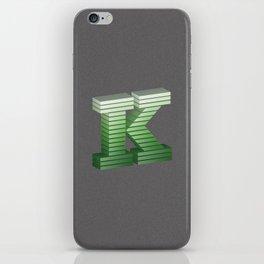 Letter K iPhone Skin