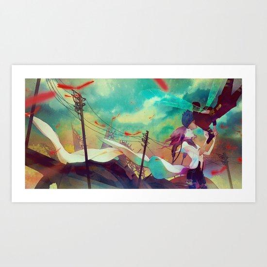 here Art Print