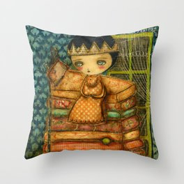 Sleepless Nights With The Princess And The Pea Throw Pillow