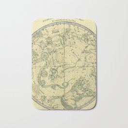 Antique Celestial Northern Circumpolar Map Bath Mat