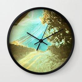 Sun on the road (pinhole camera) Wall Clock