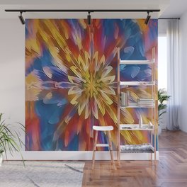 Color Flow Abstract Wall Mural