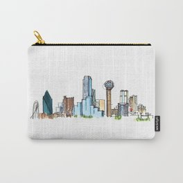 downtown dallas skyline Carry-All Pouch
