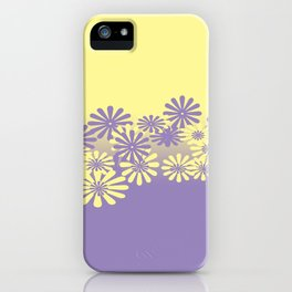 Lavender and Lemon Pattern iPhone Case