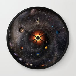 Hexagonal cosmic view Wall Clock