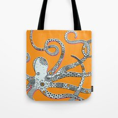 Orange Octopus Tote Bag