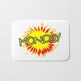 Cartoon Yellow Monday Isolated Splash Bath Mat