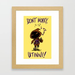 Don't Worry (Yellow) Framed Art Print