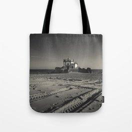 Beach Chapel (B&W) Tote Bag
