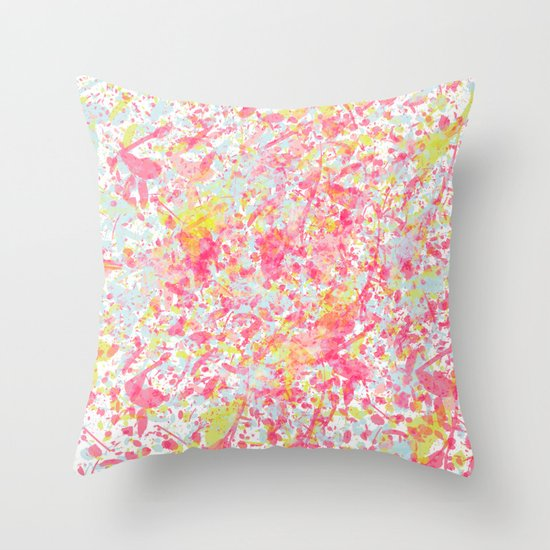 Explosion of blossoms Throw Pillow