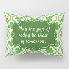 Irish Blessing Shamrocks Pattern Pillow Sham