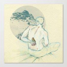 Boy and bird. Canvas Print
